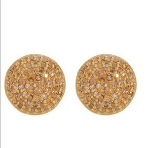 Round Stud Earrings by ADORNIA